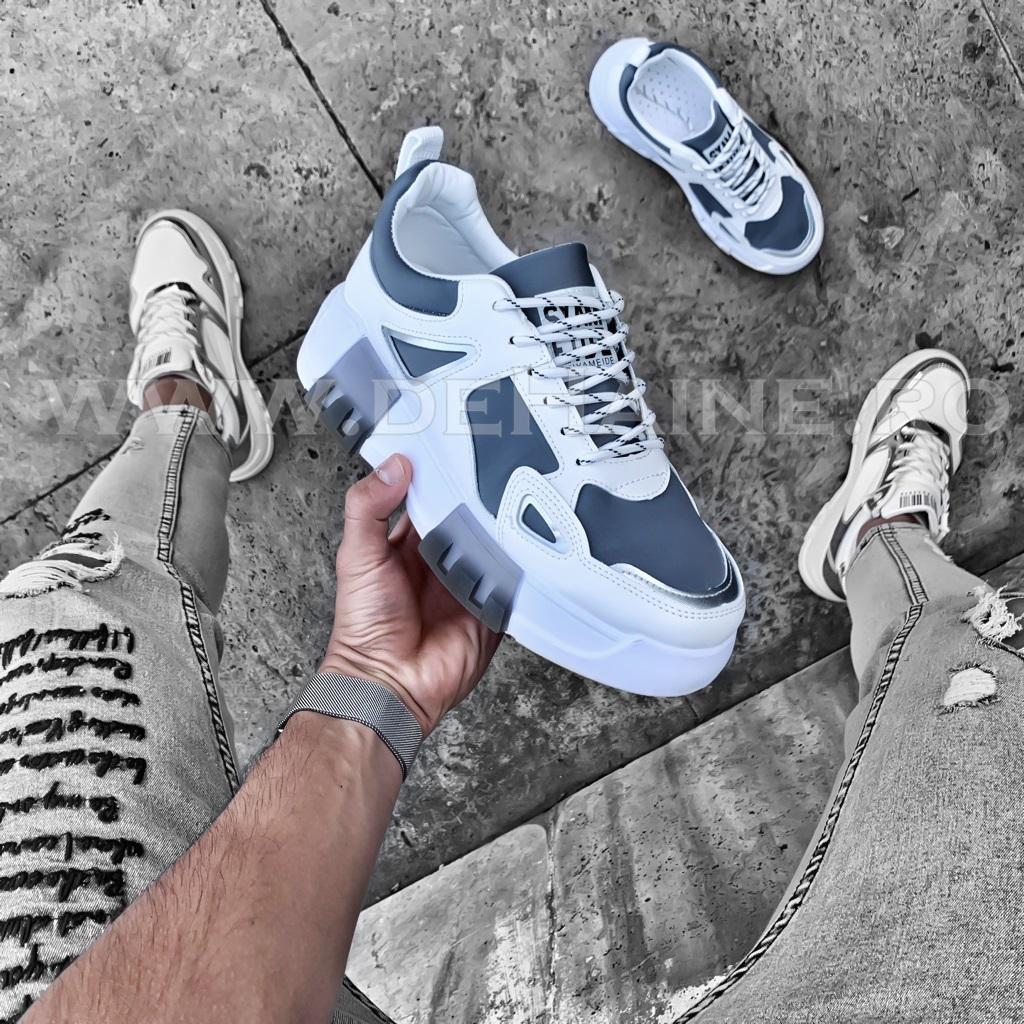 Sneakers barbati Y albi B1273