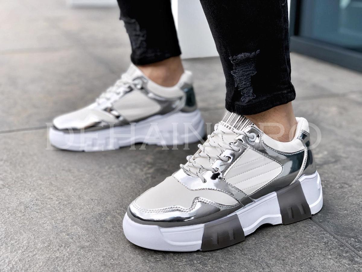 Sneakers barbati CODE albi ZR A8596