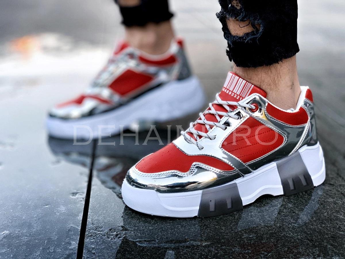 Sneakers barbati CODE rosii ZR A8556