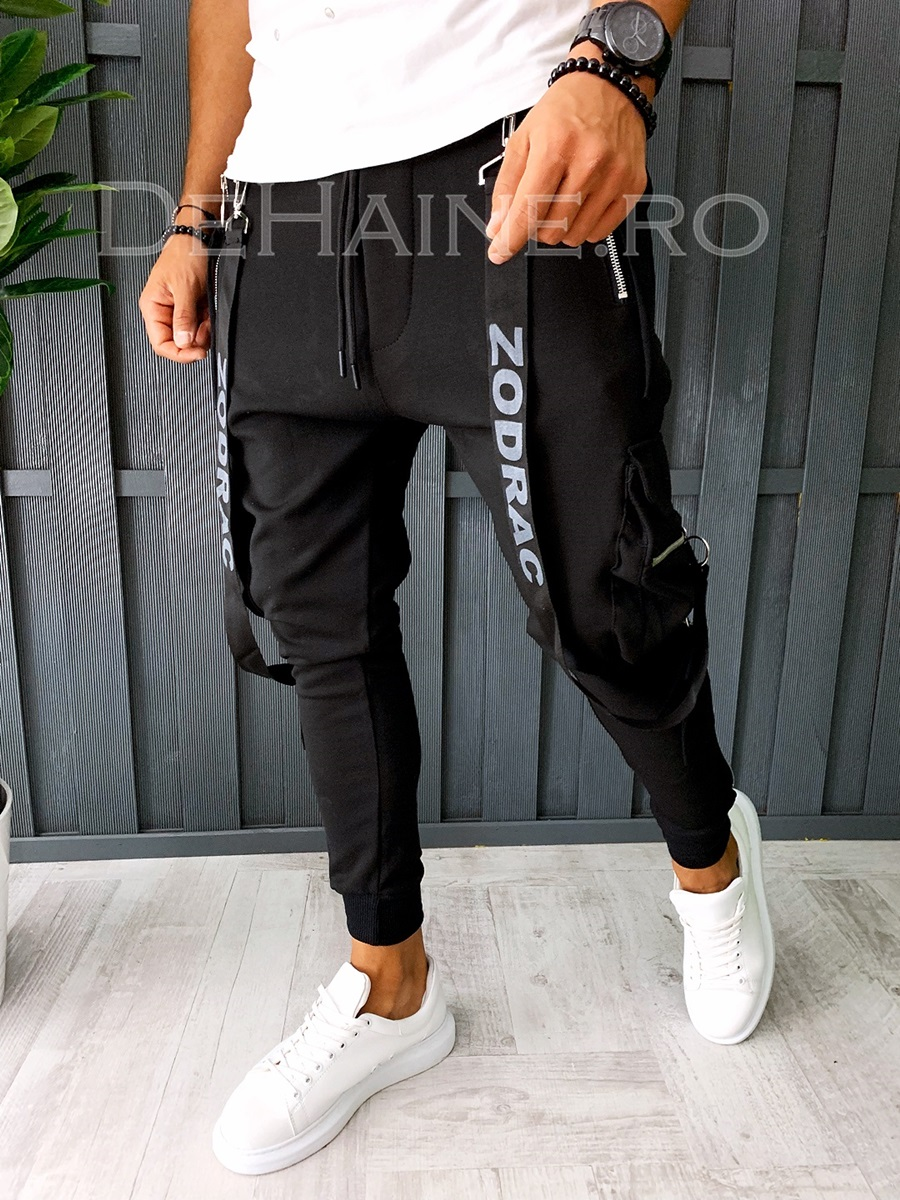 Pantaloni de trening conici PREMIUM A6316 B12-1