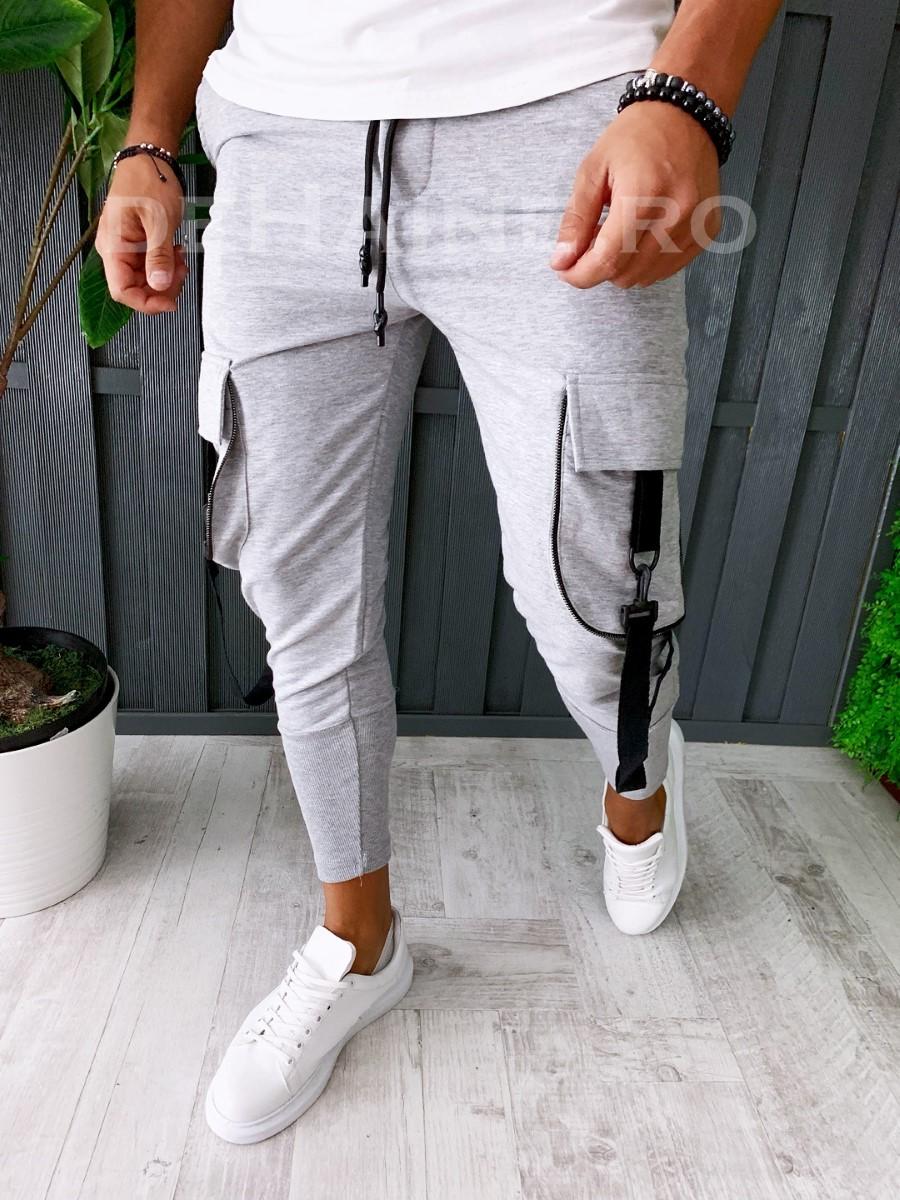 Pantaloni de trening conici A6226 81-1