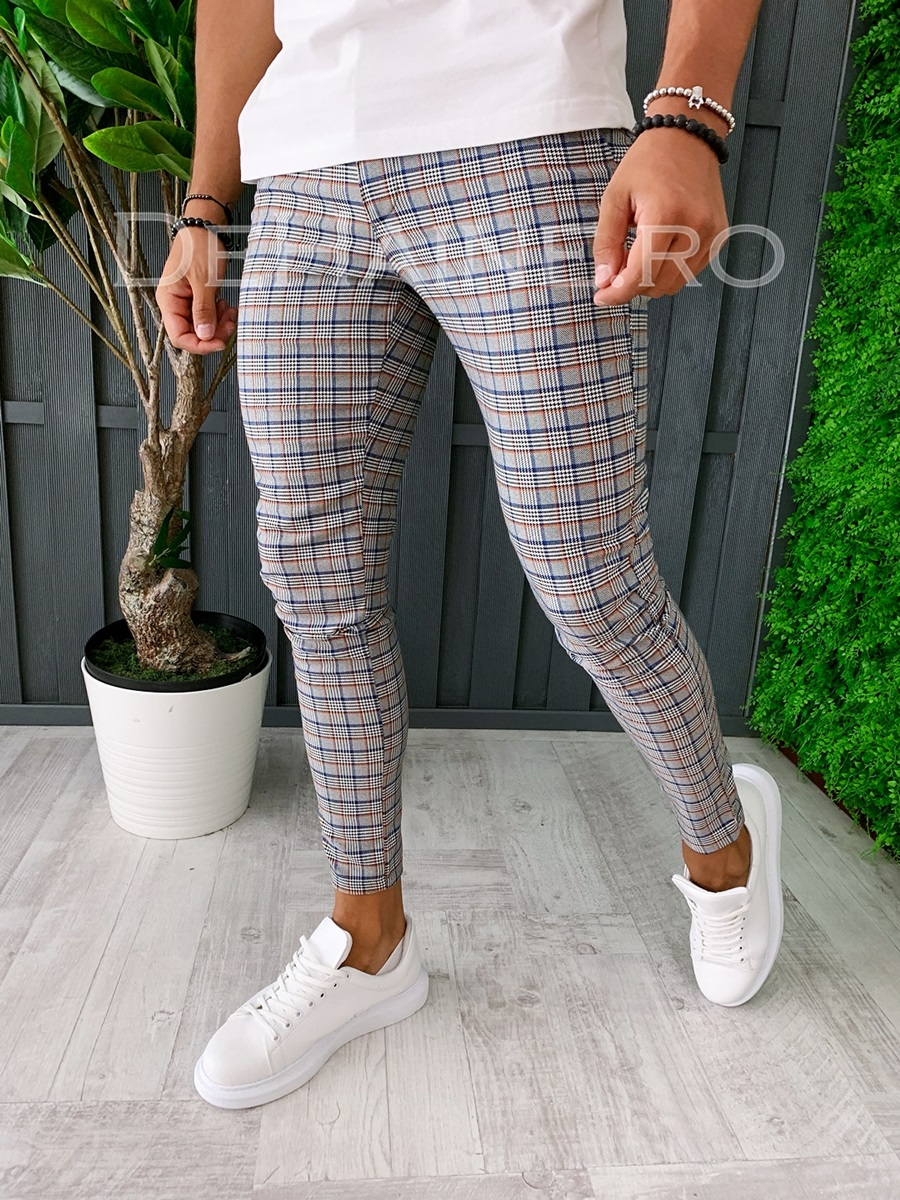 Pantaloni barbati in dungi smart casual ZR A6003