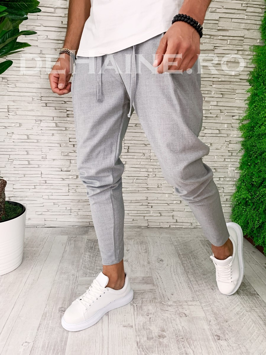 Pantaloni barbati gri smart casual ZR A5439 B