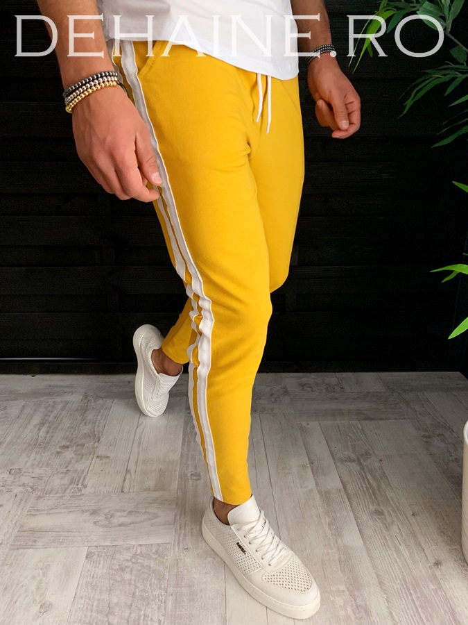 Pantaloni de trening mustar conici A3590 91-2
