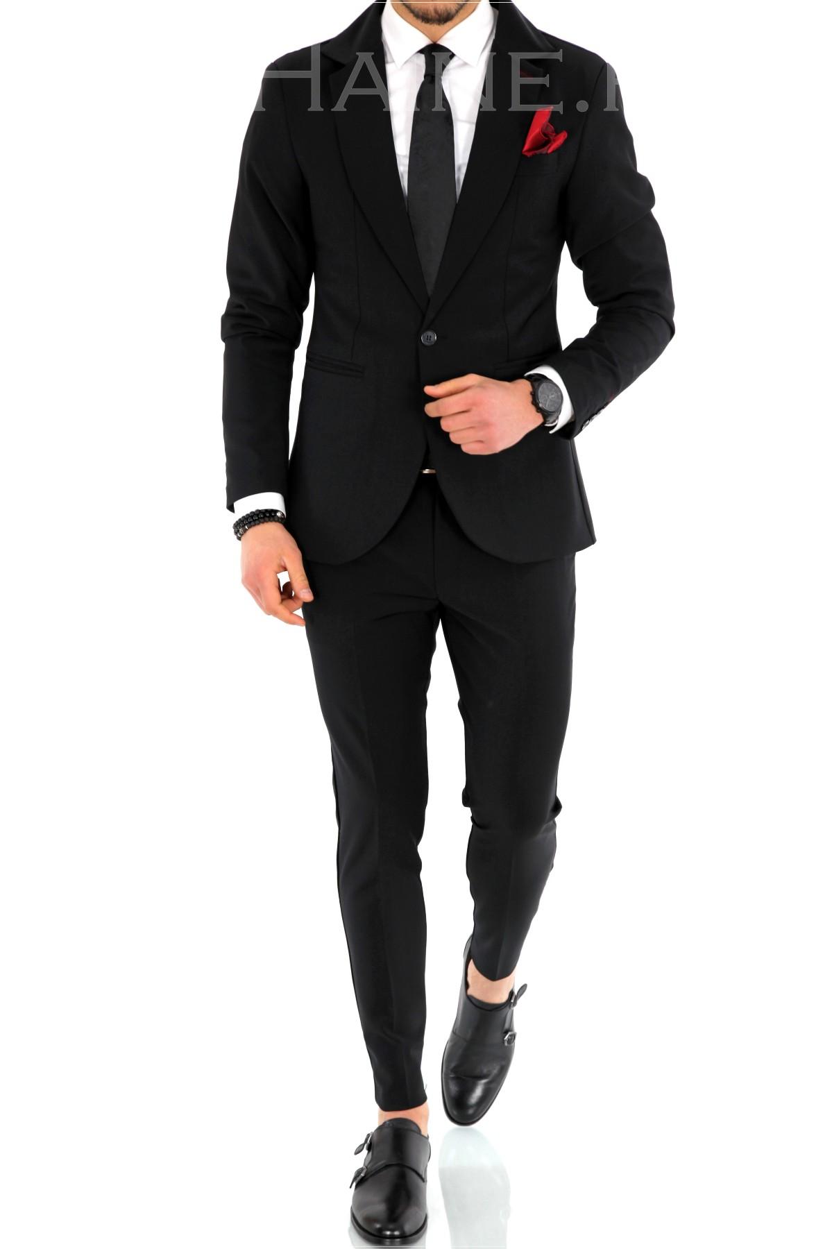 Costum barbati negru ZR 9945