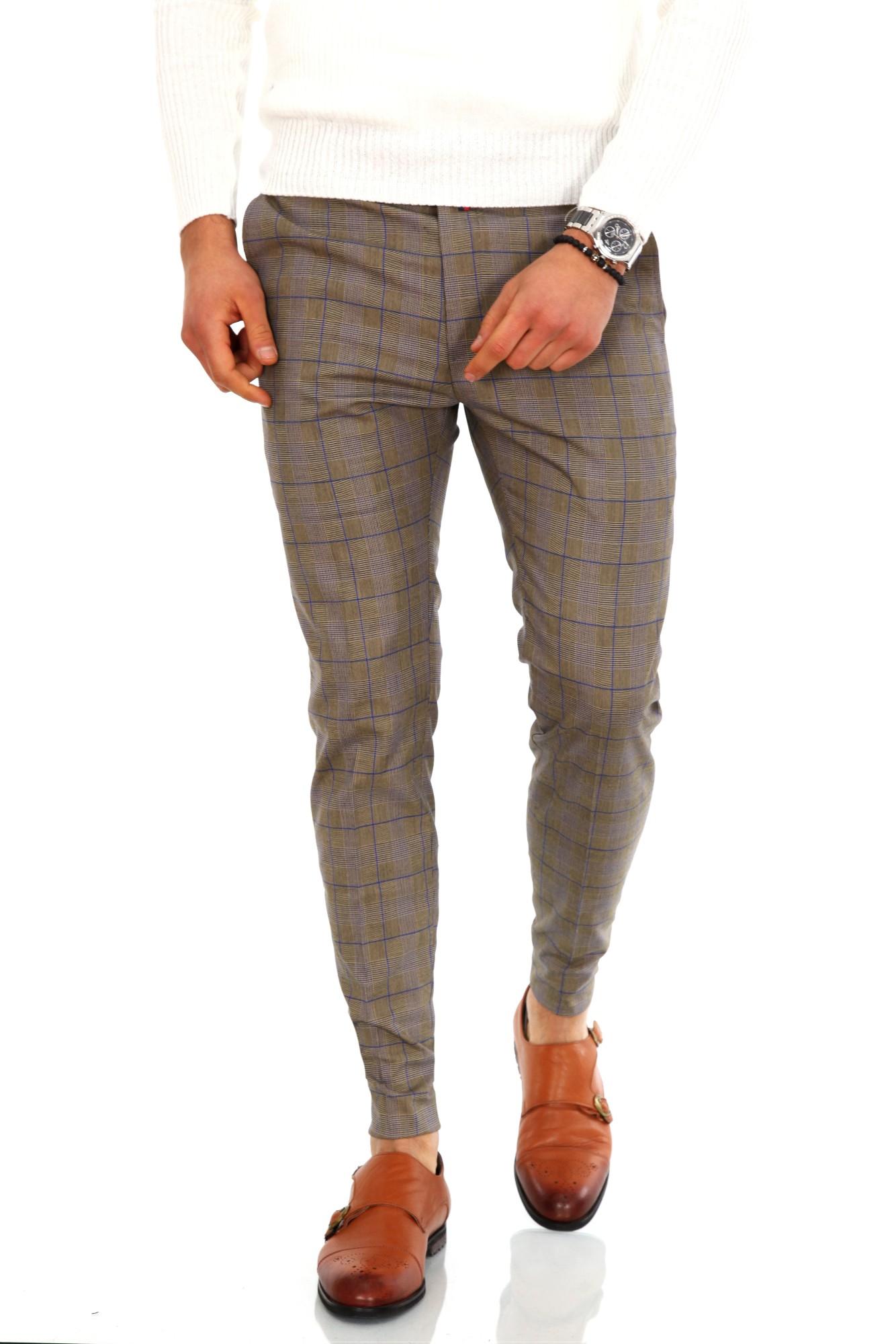 Pantaloni barbati eleganti carouri ZR 9685 B2-6