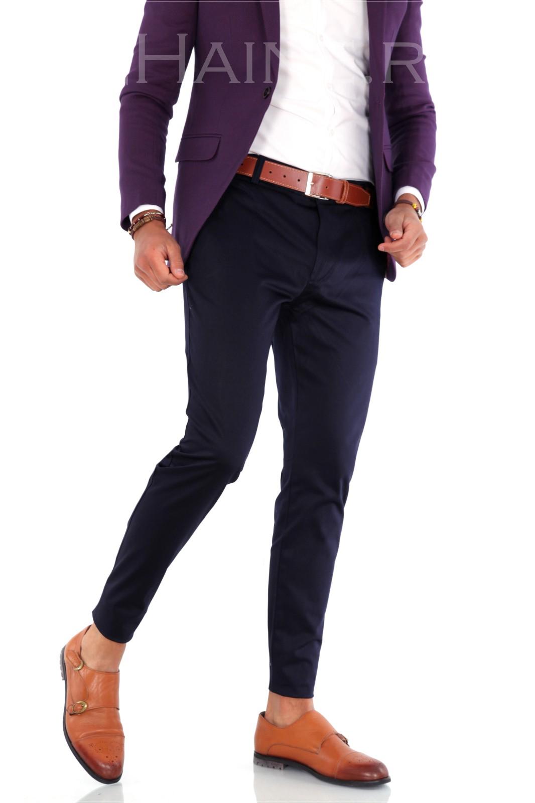 Pantaloni barbati eleganti bleumarin ZR 9281