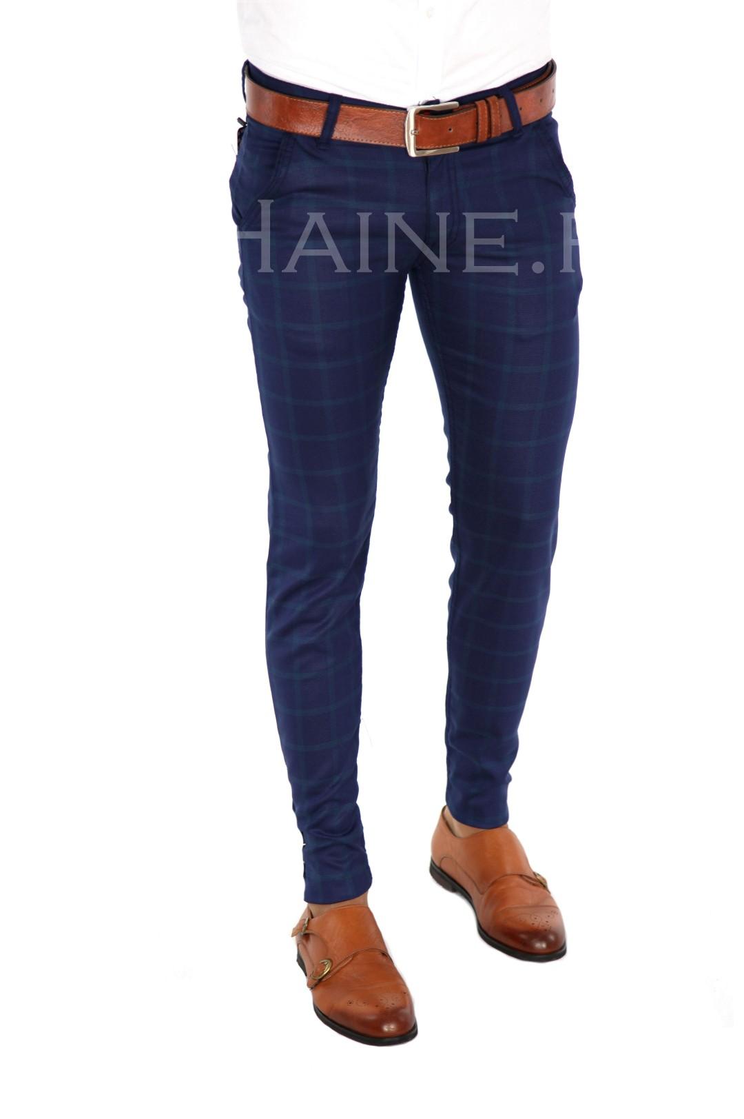 Pantaloni barbati eleganti carouri ZR 7369 A-8